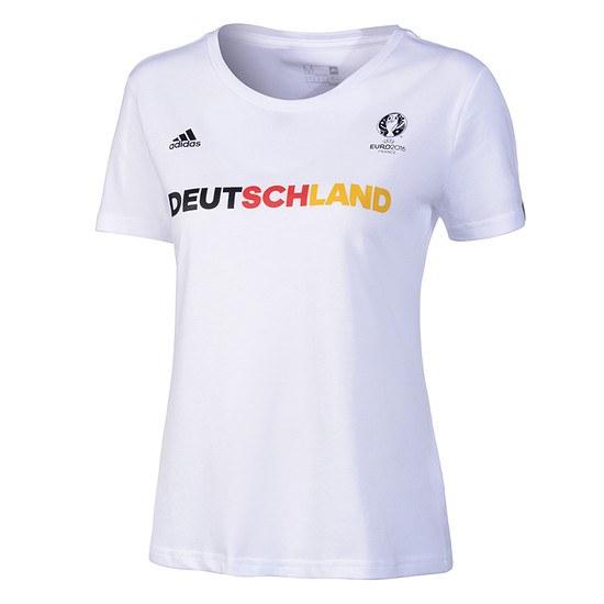 Adidas Deutschland Fanshirt Damen weiß