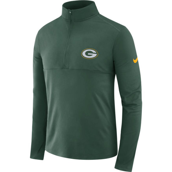 Nike Green Bay Packers Dri-FIT Longsleeve Halfzip Grün