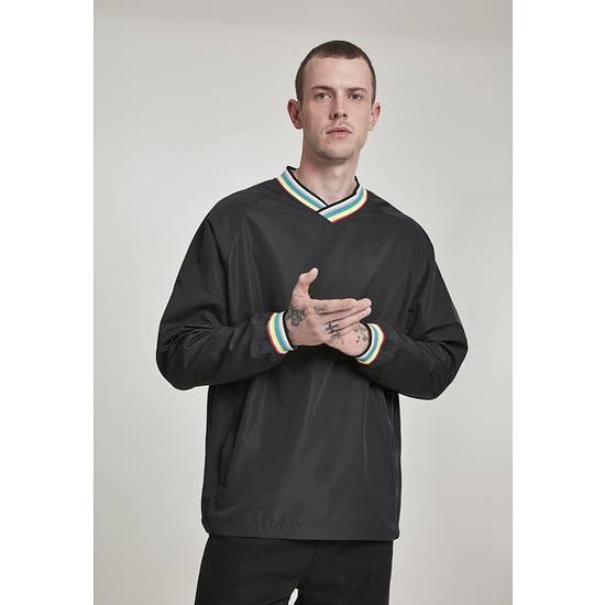 URBAN CLASSICS Pullover Warm Up schwarz/bunt