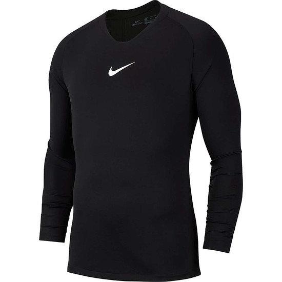 Nike Dri-FIT First Layer Park Langarm Funktionsshirt Schwarz