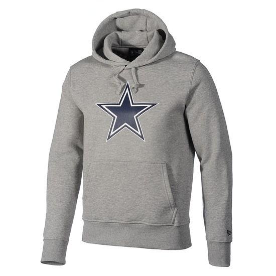 New Era Hoodie Dallas Cowboys Logo hellgrau