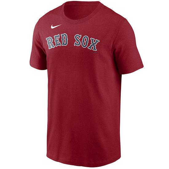 Nike Boston Red Sox T-Shirt Wordmark rot