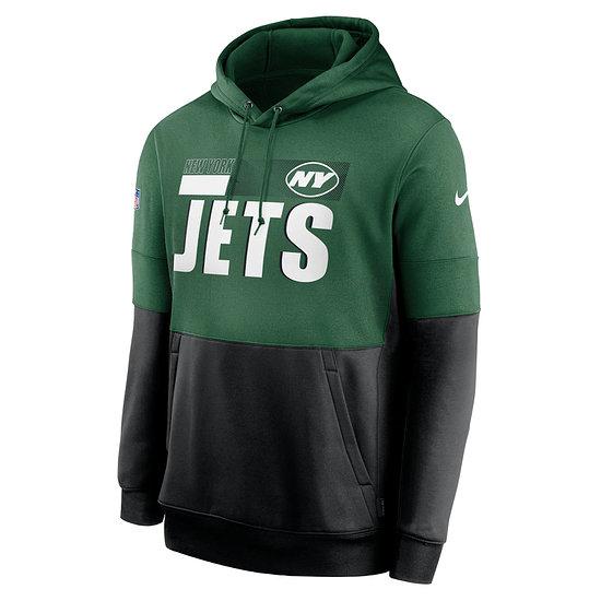 Nike New York Jets Hoodie Team Lockup Therma grün/schwarz