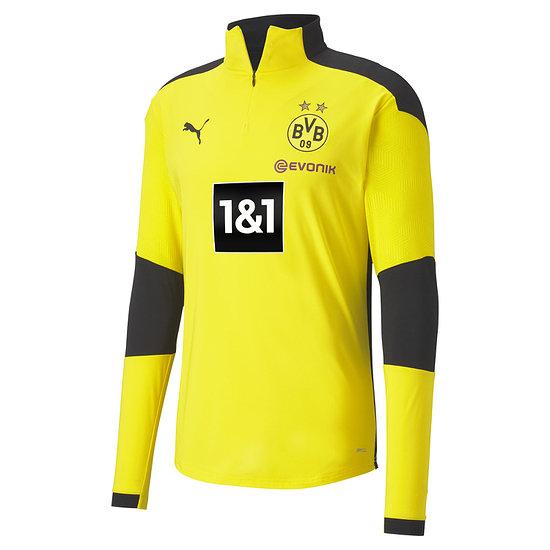 Puma Borussia Dortmund Trainingsshirt mit Zip 2020/2021 Gelb