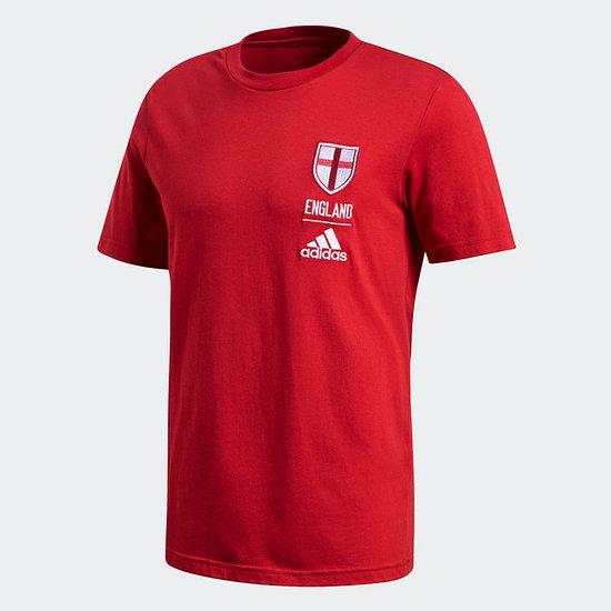 Adidas England Fan T-Shirt EM 2021 Rot