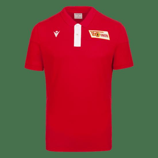 Macron 1. FC Union Berlin Poloshirt Fresh rot/weiß