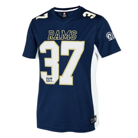 Fanatics Los Angeles Rams T-Shirt Moro Poly Mesh blau