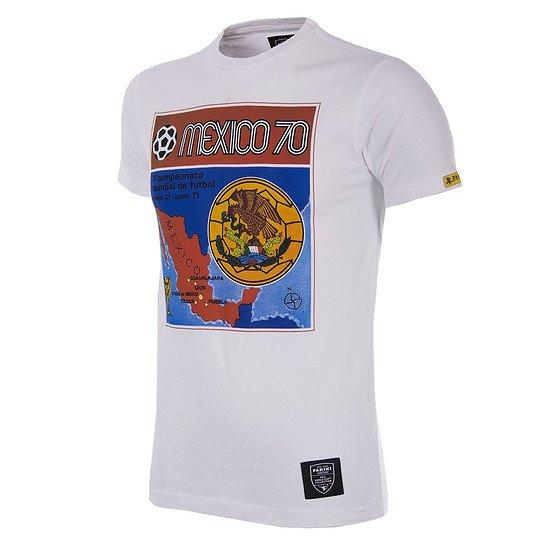 Copa PANINI T-Shirt World Cup 1970 Mexiko weiß