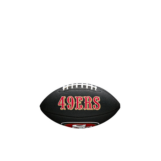 Wilson San Francisco 49ers Football Mini Team Logo schwarz