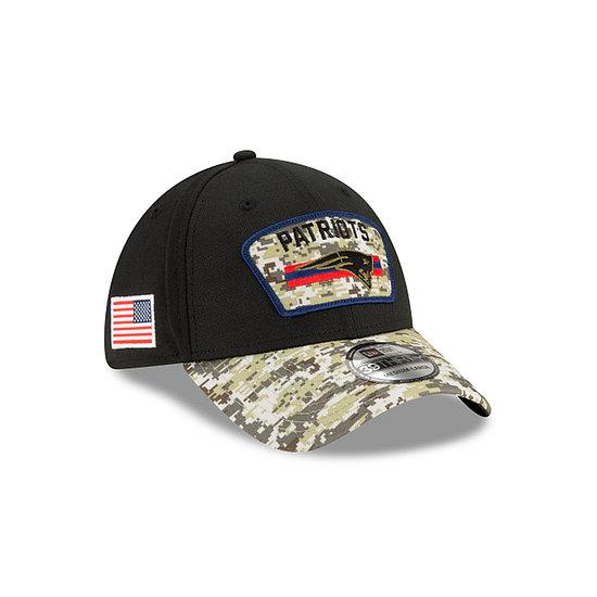 New Era New England Patriots Cap Salute To Service 39THIRTY 2021 schwarz