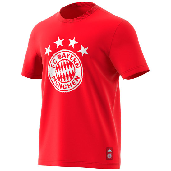 Adidas FC Bayern München T-Shirt FCB Wappen 2020/2021 Rot
