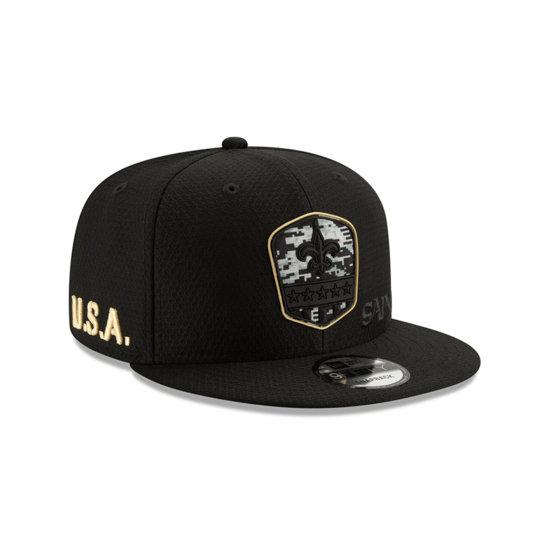 New Era New Orleans Saints Cap Salute To Service 9FIFTY schwarz