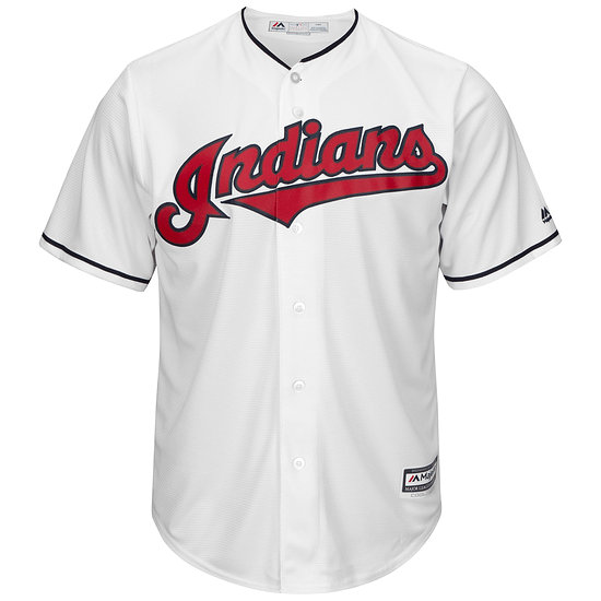 Majestic Athletic Cleveland Indians Replica Cool Base Trikot weiß