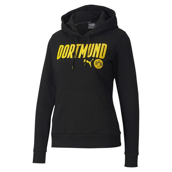 Puma Borussia Dortmund Hoodie DORTMUND 2020/2021 Damen Schwarz