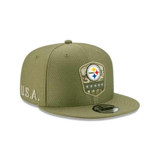 New Era Pittsburgh Steelers Cap Salute To Service 9FIFTY oliv
