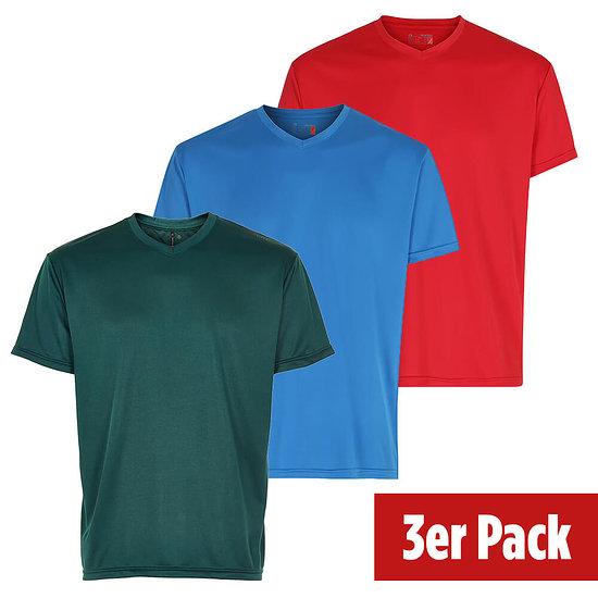newline 3er Set T-Shirt Base Cool rot/hellblau/dunkelgrün