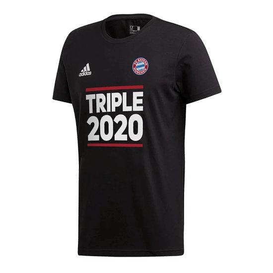 Adidas FC Bayern München T-Shirt Triple Sieger 2020 Kinder Schwarz