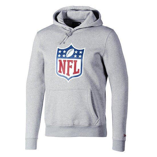 New Era NFL Shield Hoodie Team Logo hellgrau