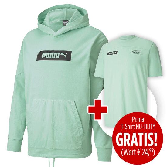 Puma Hoodie NU-TILITY inkl. T-Shirt NU-TILITY gratis Mint