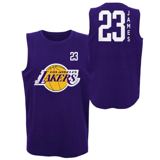 Outerstuff EMEA Los Angeles Lakers Tanktop Lebron James All Net Basic lila