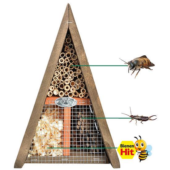 Garten-Welt Bienen-&Insektenhaus dreieckig 19x17x28 cm