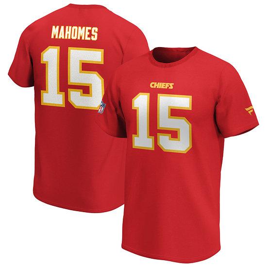 Fanatics Kansas City Chiefs T-Shirt Iconic N&N Mahomes 15 rot