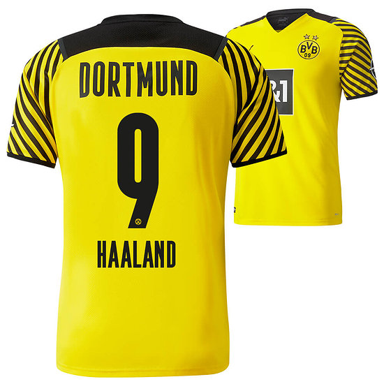Puma Borussia Dortmund Heim Trikot HAALAND 2021/2022 Kinder
