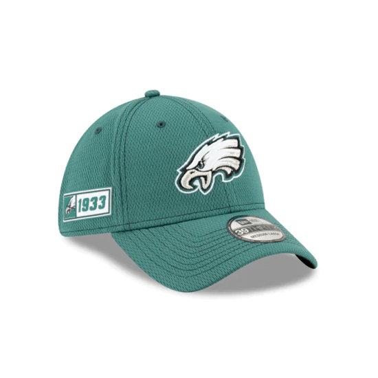 New Era Philadelphia Eagles Cap On Field 39THIRTY grün