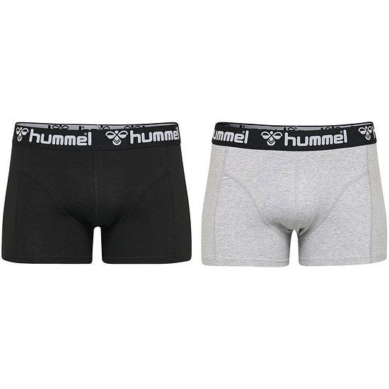 hummel Boxershorts HMLMARS 2er Pack schwarz/grau