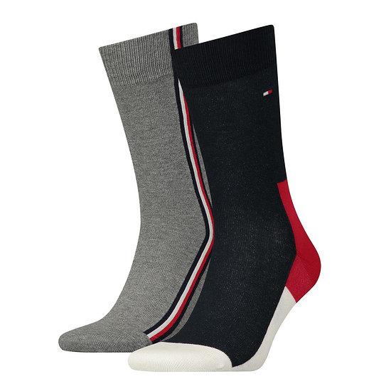 Tommy Hilfiger Socken 2er Pack ICONIC HIDDEN Grau/Schwarz