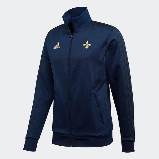 Adidas Frankreich Track Jacket EM 2021 Blau