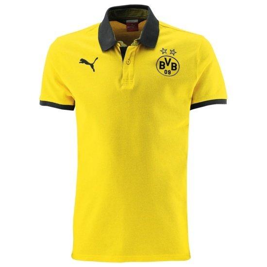 Puma Borussia Dortmund Poloshirt T7 gelb/schwarz